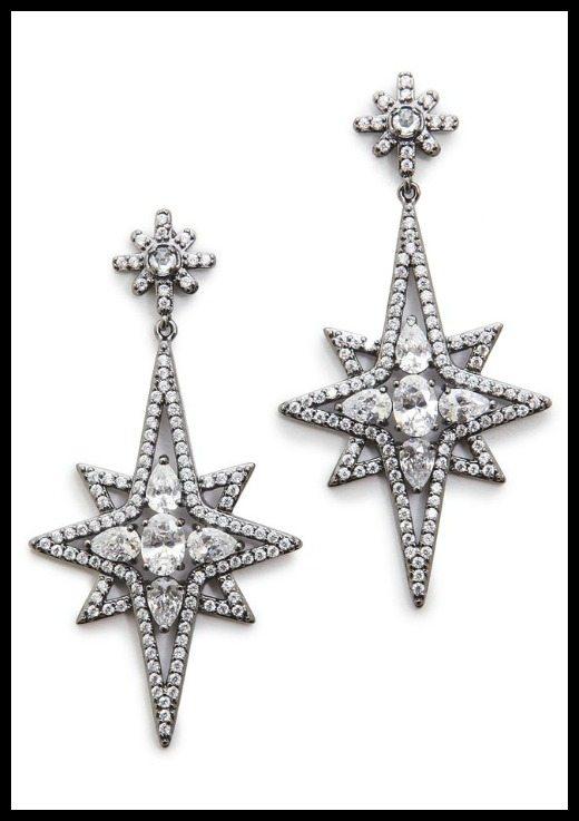 Kenneth Jay Lane Elongated Star Earrings