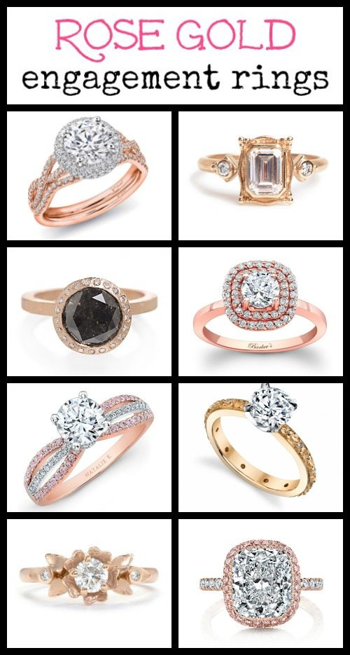 Ring roundup: the prettiest rose gold engagement rings.