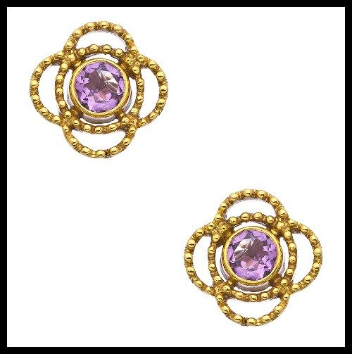 Treat Yo'self: stud earrings under $100, featuring these Julie Vos Amethyst Lorie stud earrings.