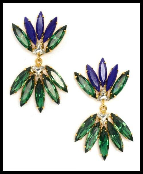 Lizzie Fortunato Jewels Blue Nude earrings