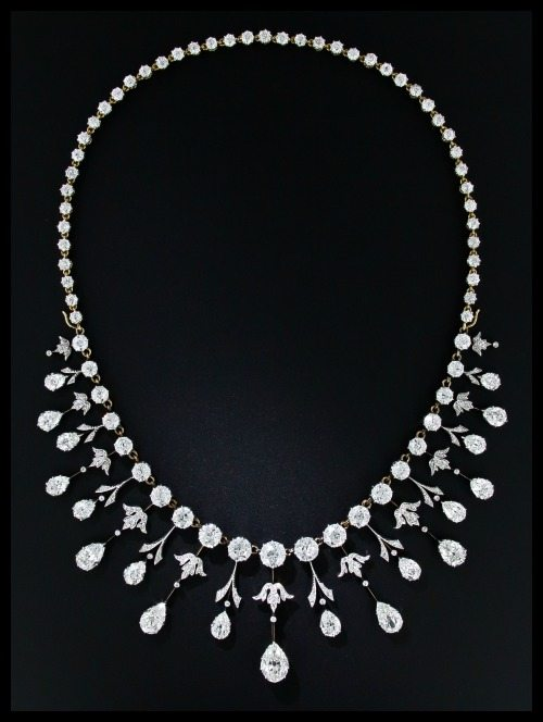 35 carat antique Edwardian diamond necklace at Lang Antiques