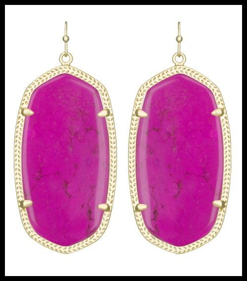 Kendra Scott Danielle Earrings, magenta.