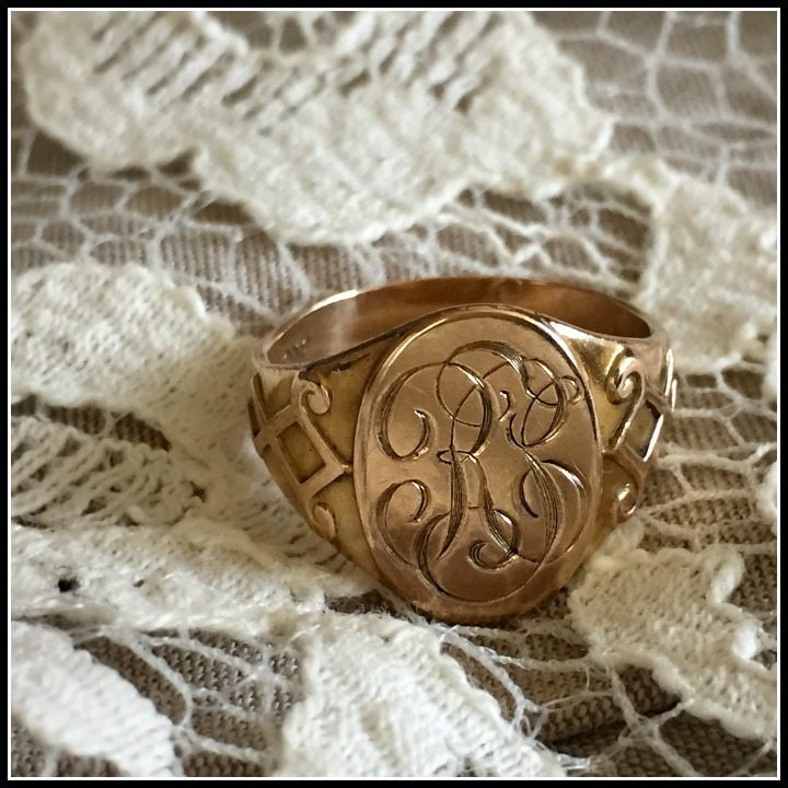 My Antique Ostby Barton signet ring from Circa 1700