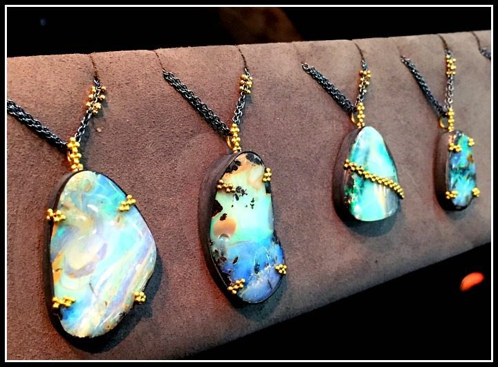Amali jewelry boulder opal necklaces
