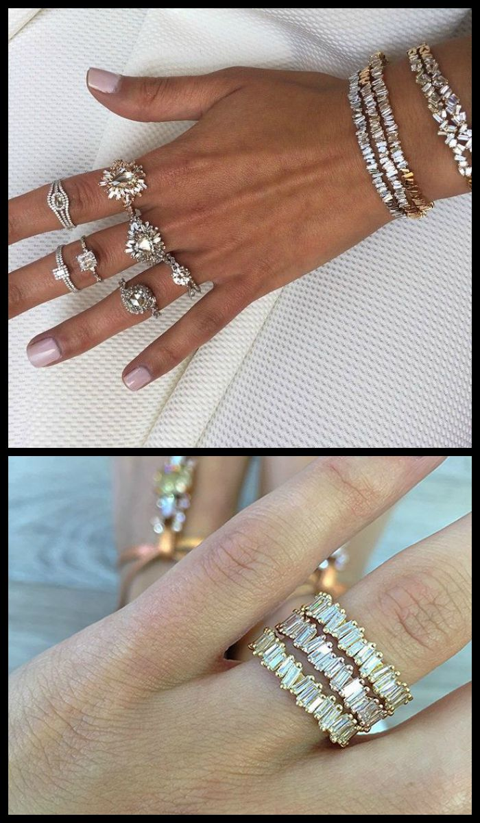 Beautiful baguette diamond pieces from Suzanne Kalan's Devoted collection
