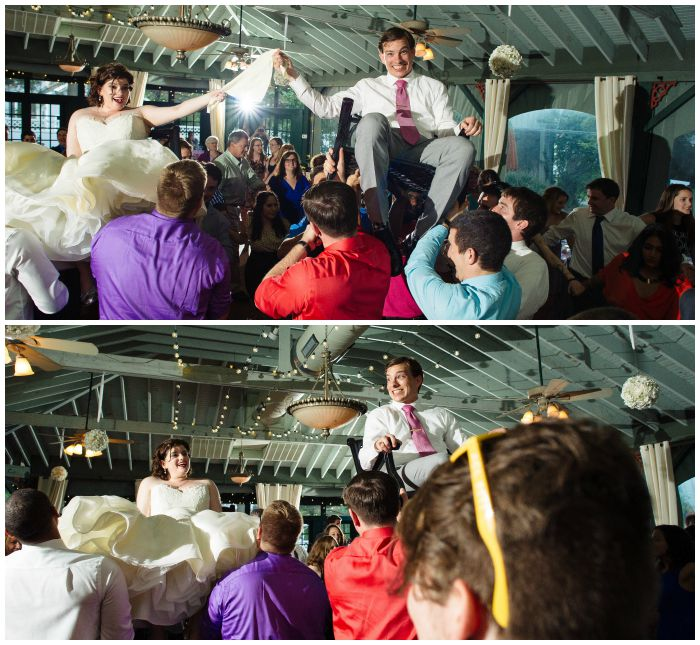 During the hora at our Vandiver Inn wedding reception. Photo by Angel Kidwell.
