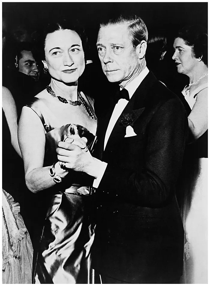 The Duke and Duchess of Windsor at the assembly ball in the Hotel Sherry-Netherland. 1950. She is wearing her Van Cleef & Arpels ruby and diamond necklace.