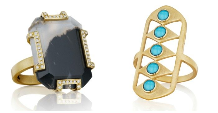 Two fabulous rings by Doryn Wallach jewelry.