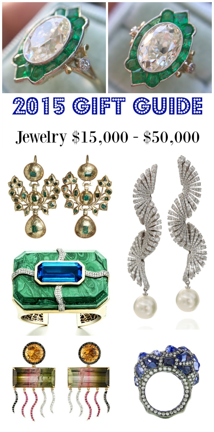Diamonds in the Library's 2015 jewelry gift guide - jewelry $15,000 - $50,000