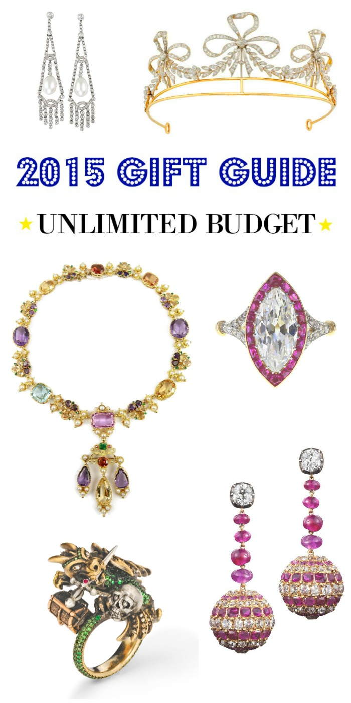 Diamonds in the Library's 2015 jewelry gift guide - the most incredible jewelry for the lucky shopper with an unlimited budget.