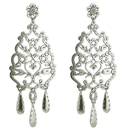 Laurent Gandini's sterling silver floral lace earrings.