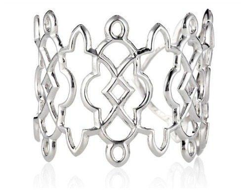 Suz Somersoll Avila cuff in silver.