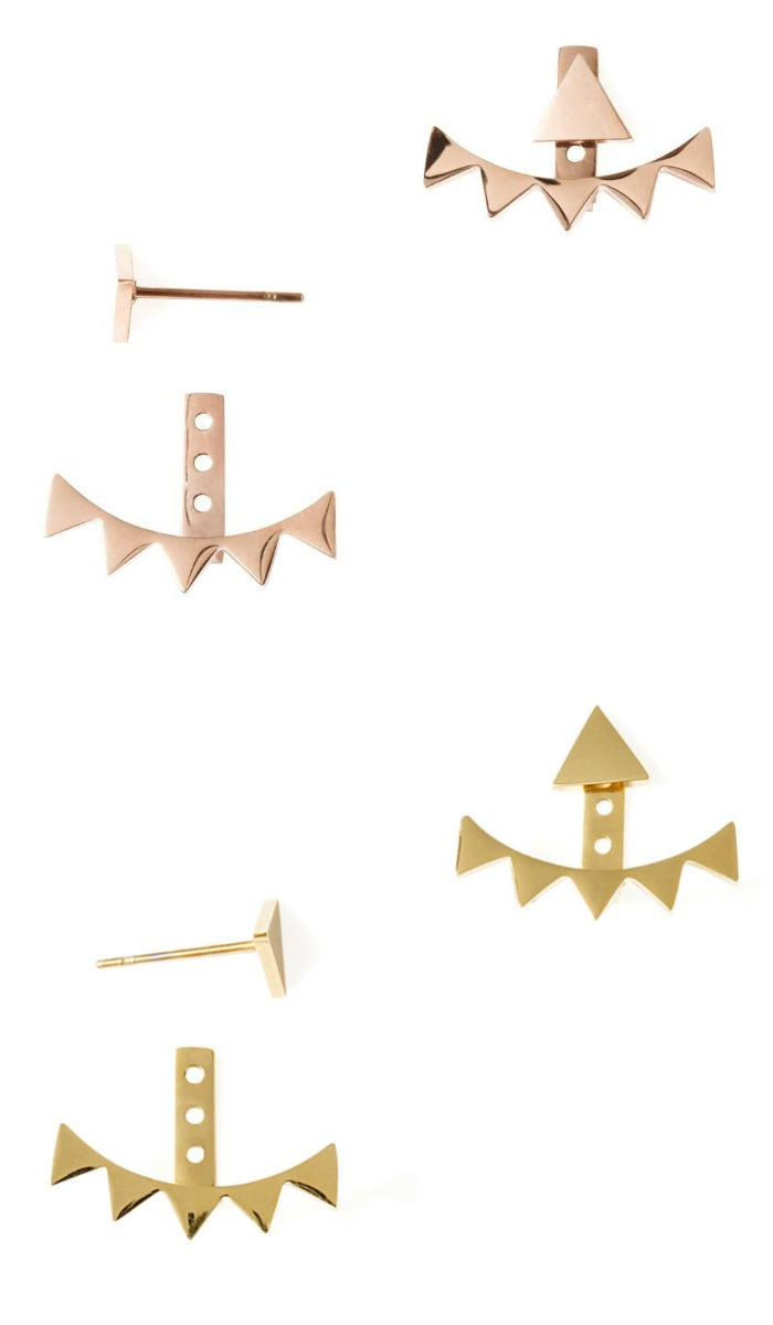 Tara May ear jackets by Benique, available in rose or yellow gold plated