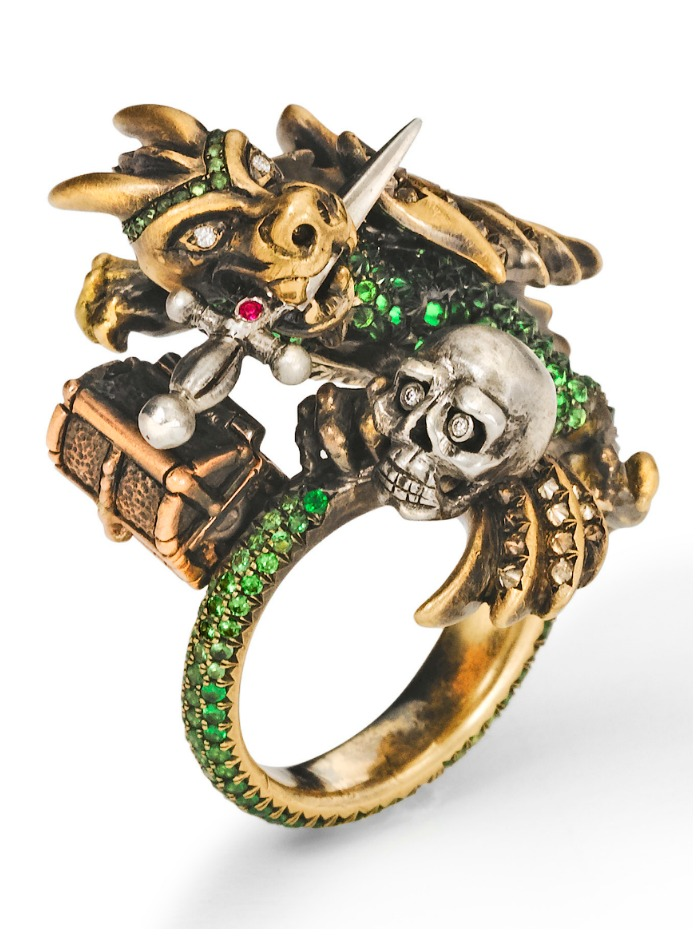 Wenddy Brandes Dragon and Knight Maneater ring