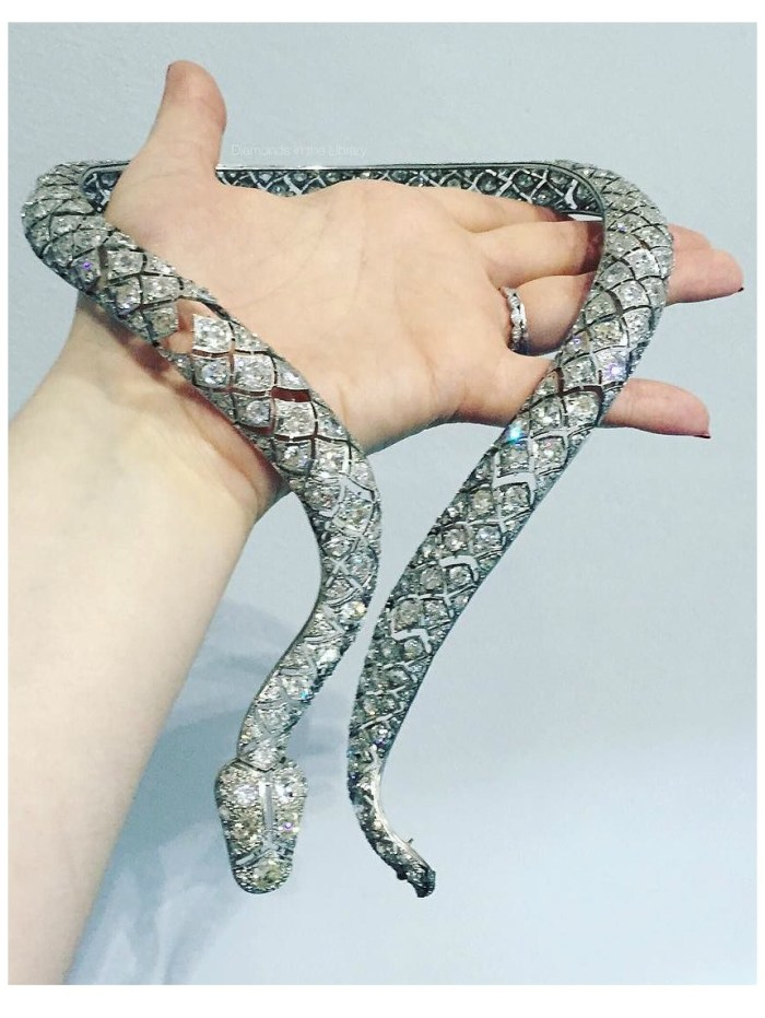A glorious antique snake necklace from Mario's Antiques. Turn-of-the-century.
