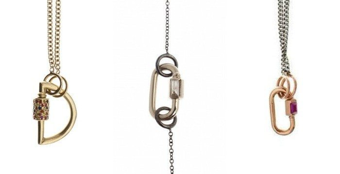 The Marla Aaron locks look perfect on these specialized chains, but they can be worn with or on anything.