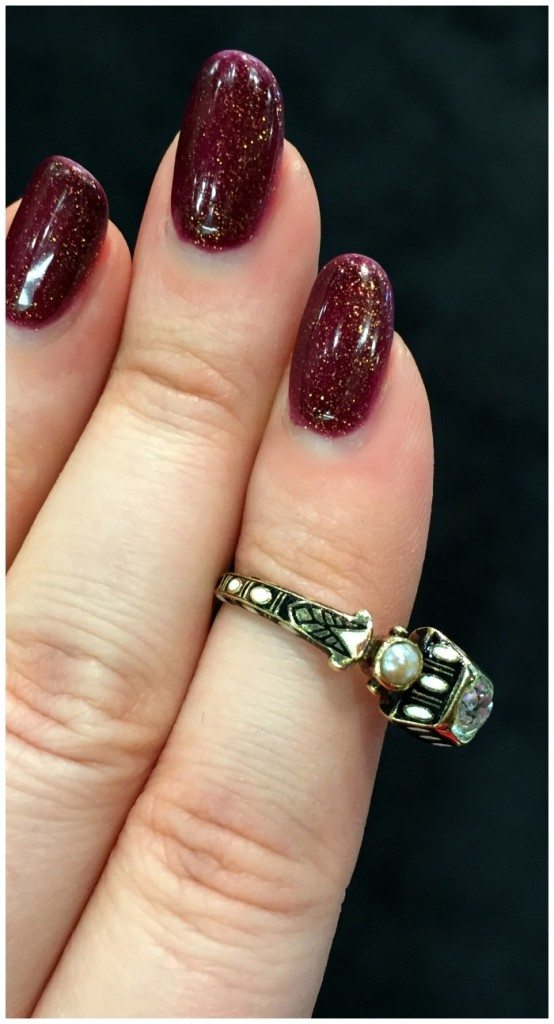 A beautiful antique Renaissance revival diamond ring in gold with black and white enamel details. At Roy Rover.