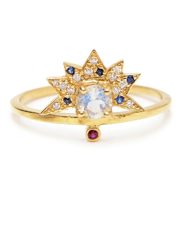 A stunning moonstone ring from Unhada jewelry