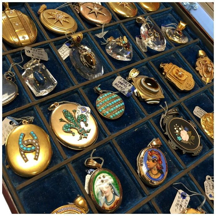 A stunning selection of antique lockets at A Brandt and Son