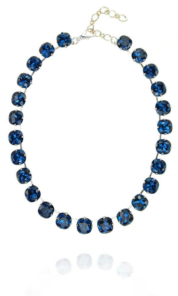 The Eclat necklace in cobalt crystal from JY Jewels.