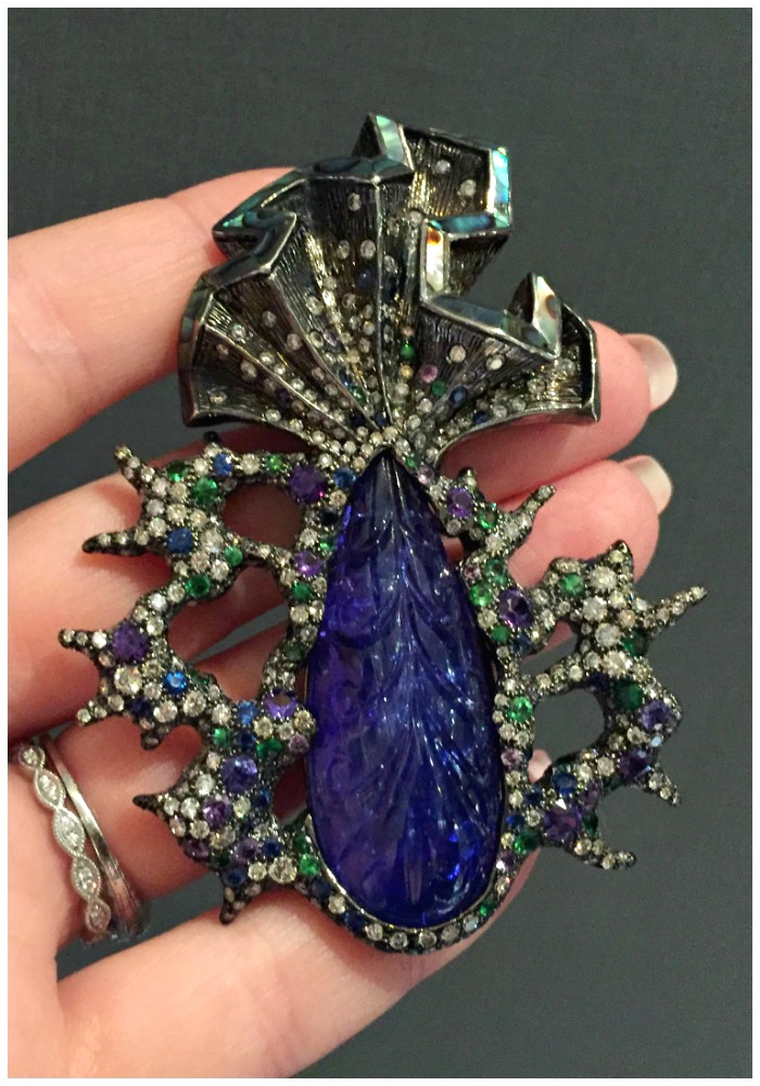 An incredible gemstone and diamond pendant by Arunashi.