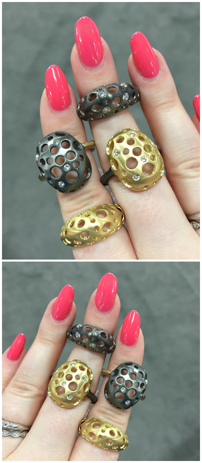 Funky, beautiful rings by Dana Bronfman.
