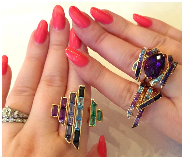 Three incredible rings from the Tomasz Donocik Electric Night collection.
