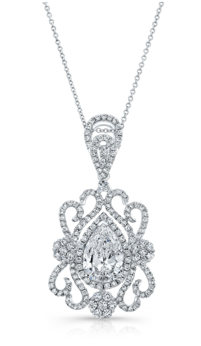 A beautiful Forevermark by Natalie K pear diamond necklace