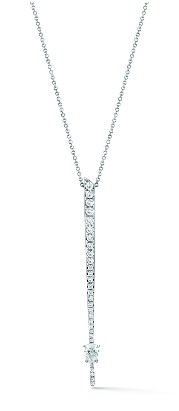 Forevermark by Jade Trau Rae Pendant with diamonds in 18k white gold.