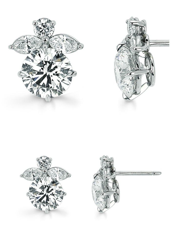 Forevermark by Leo Schachter Angel diamond studs.