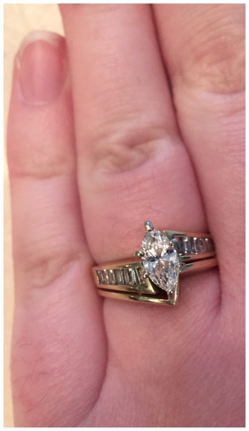 See how one Diamonds in the Library reader had this 1980's family diamond ring reset into a custom-designed, Art Deco inspired setting.
