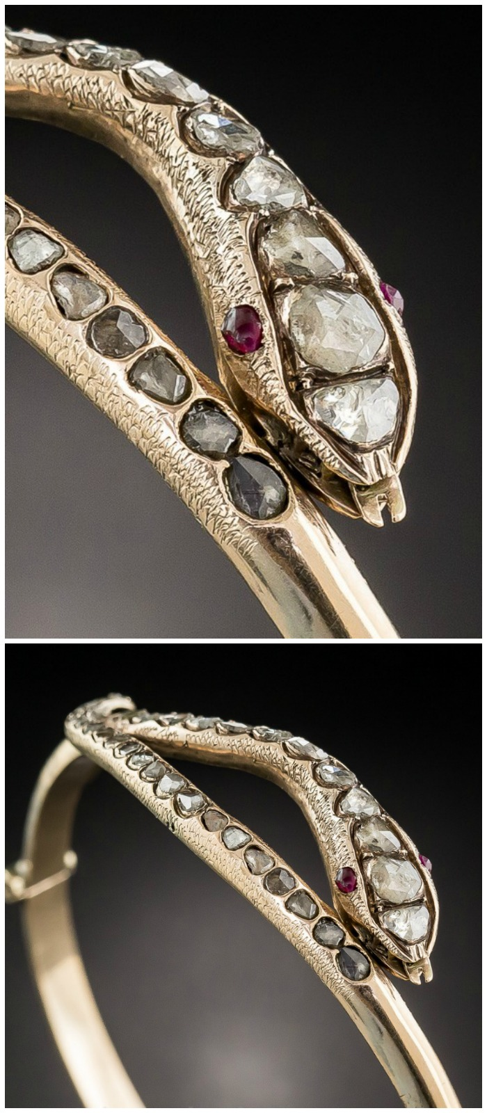 an-incredible-antique-snake-bracelet-with-rose-cut-diamonds-and-ruby-eyes-at-lang-antiques