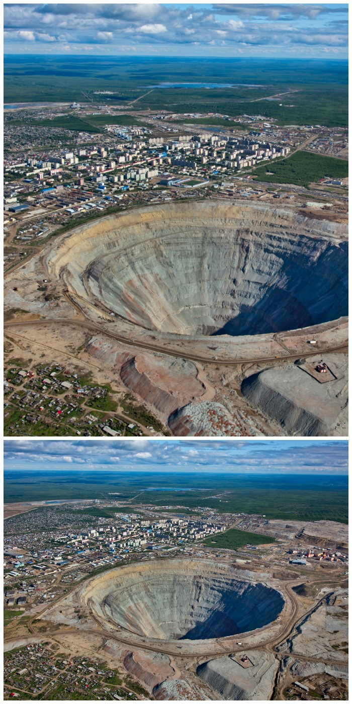 This is Mirny, the center of ALROSA's diamond mining operations in Siberia. Click through to learn how ALROSA is helping the people who live near its mine.