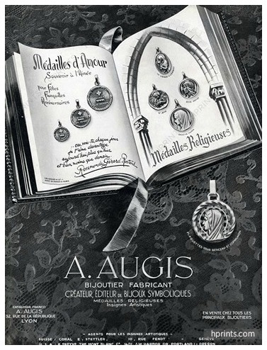 An Augis ad published in a periodical from 1950.