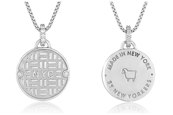Julie Lamb's NYC manhole cover pieces are made in New York, by New Yorkers - and it says so on the back.