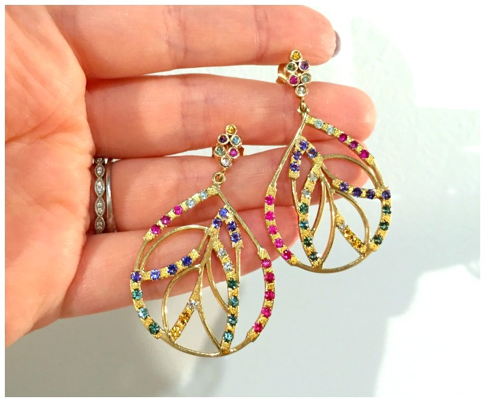 The Onirikka leaf earrings. I saw this beautiful design at Metal and Smith and I love love loved it.