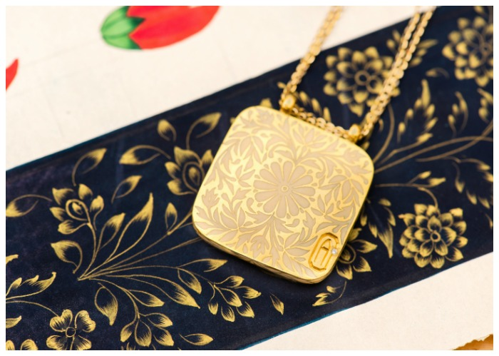 The Gilded Journey initial necklace from Agaro Jewels Roya Collection. Even the back is beautiful!