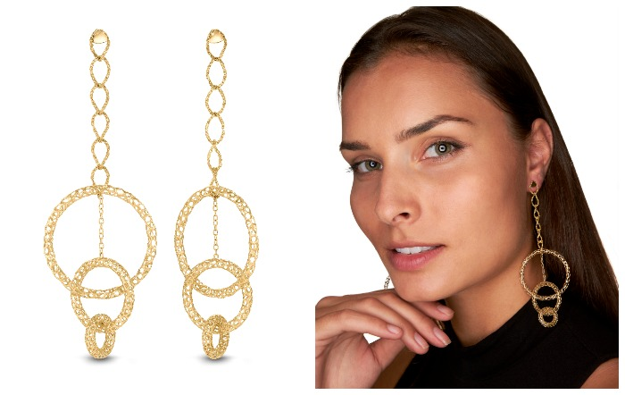 A fantastic pair of metal lace statement earrings from Vitae Ascendere.