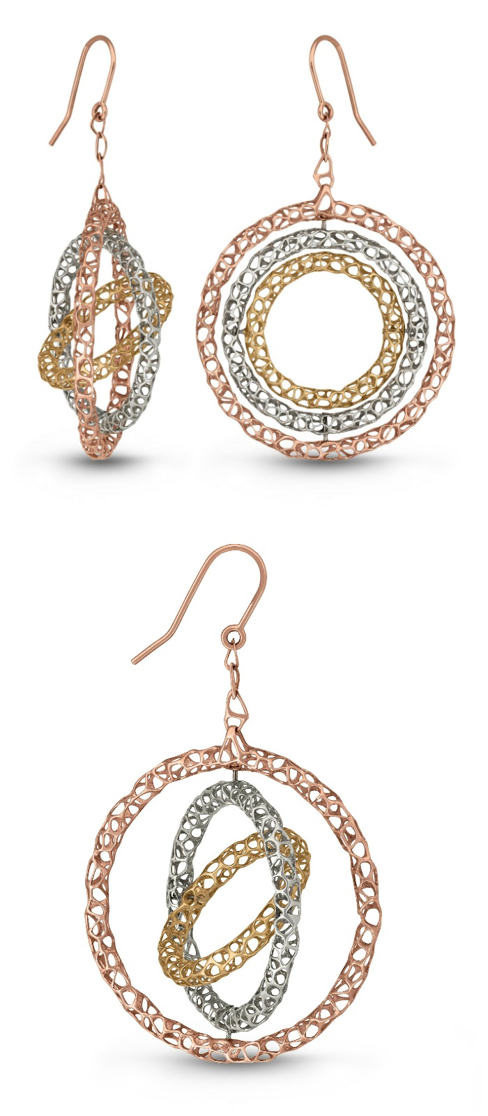 A very cool pair of mixed metal lace earrings from Vitae Ascendere.