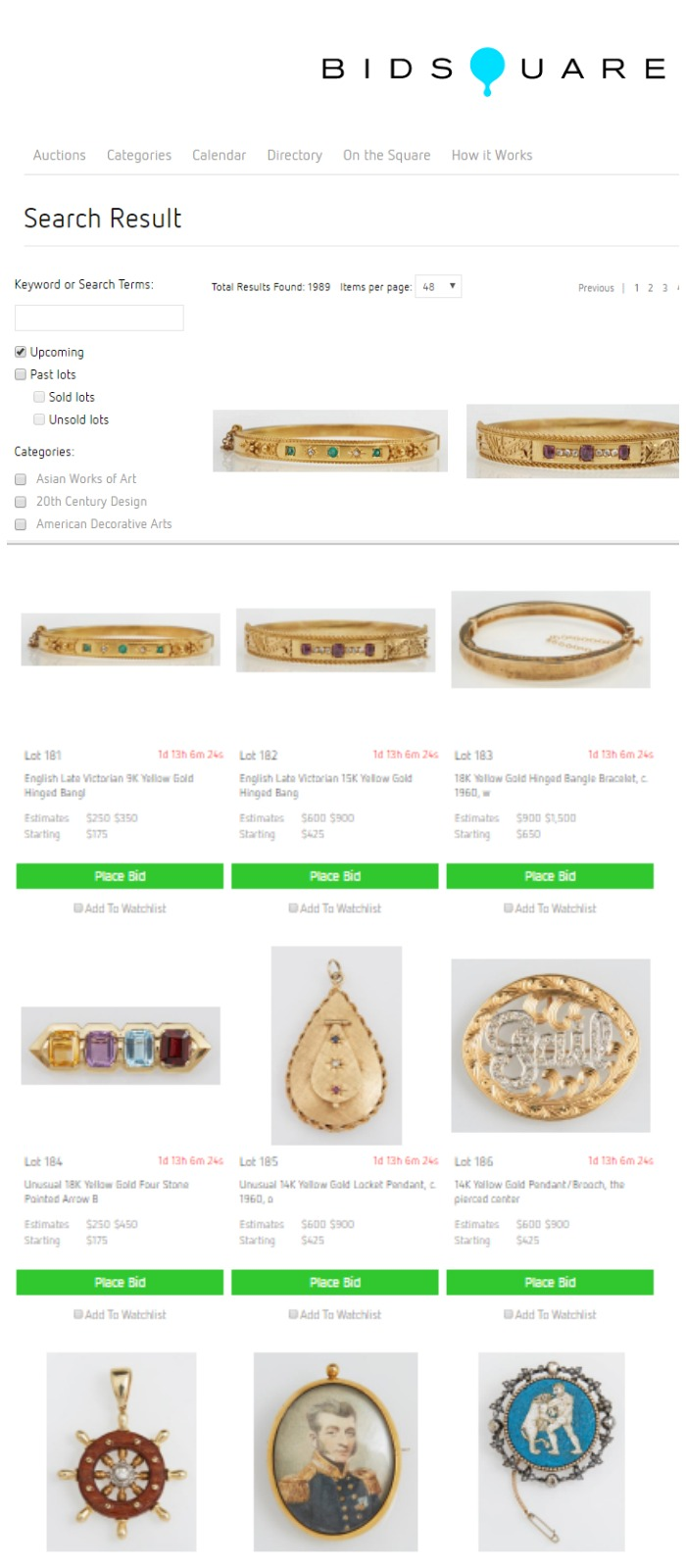 There are nearly 2,000 auction lots of jewelry on Bidsquare today! It's so hard to choose which to bid on.