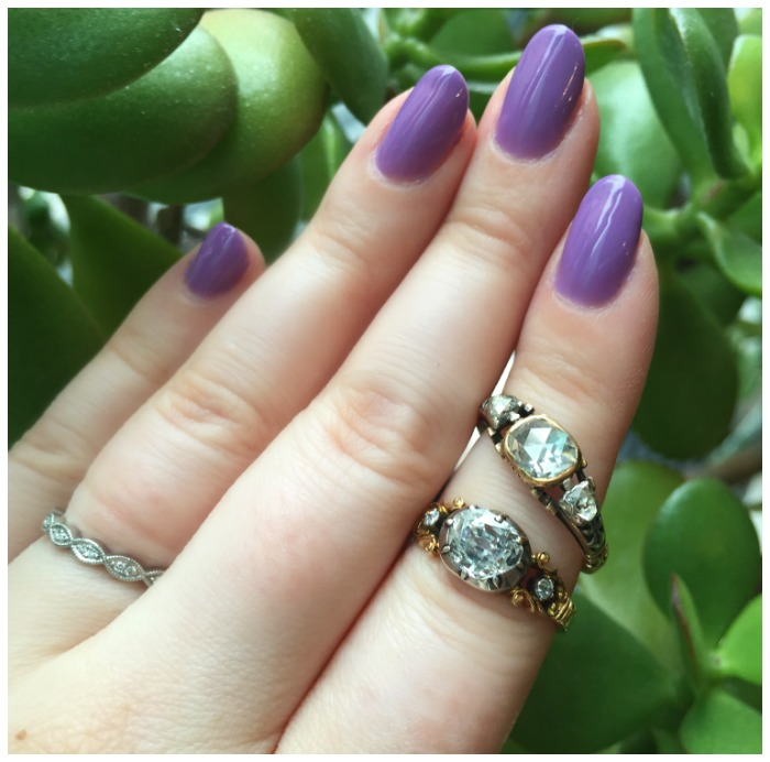 Two stunning Georgian era engagement rings from Erstwhile Jewelry Co.