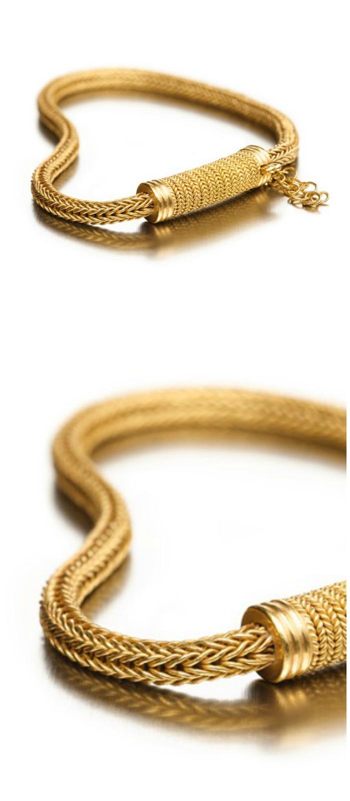 Reinstein Ross woven gold bracelet.