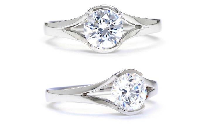 Sholdt oval shaped diamond engagement ring setting.