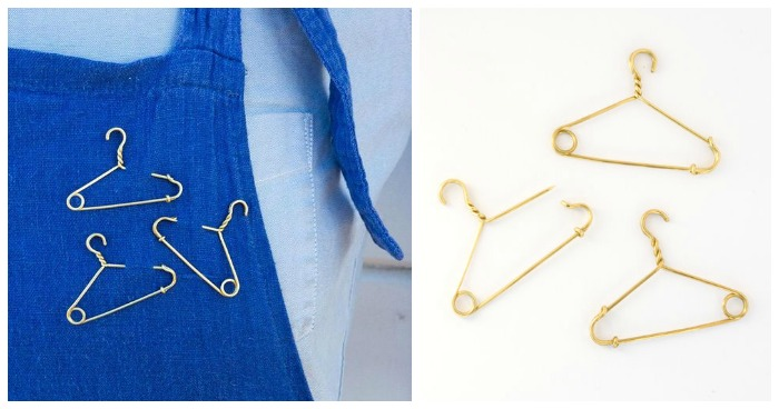 These safety pin coat hangers are a beautiful and chilling pro-choice statement from Katelin Gibbs. Half of the proceeds from these pins go to Planned Parenthood.