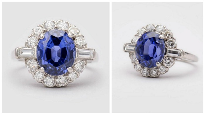 A stunning 5.23 ct Ceylon sapphire and diamond ring.