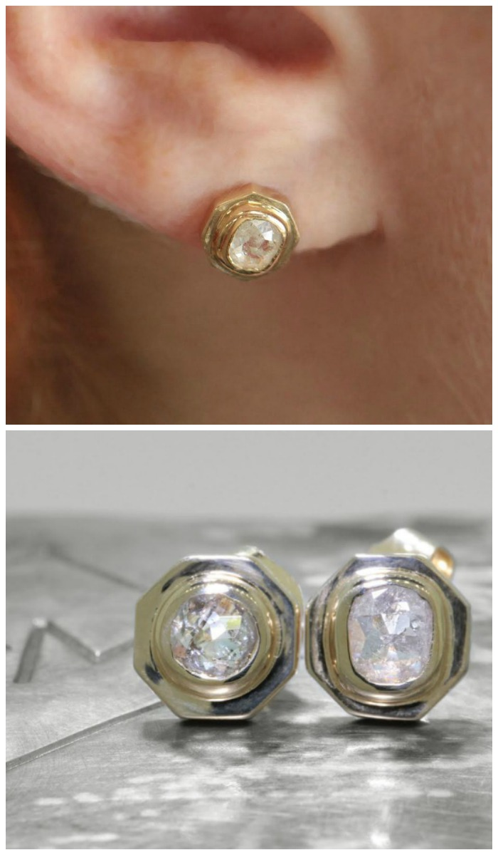 Diamond earrings from Chinchar Maloney's The New Classic Collection.