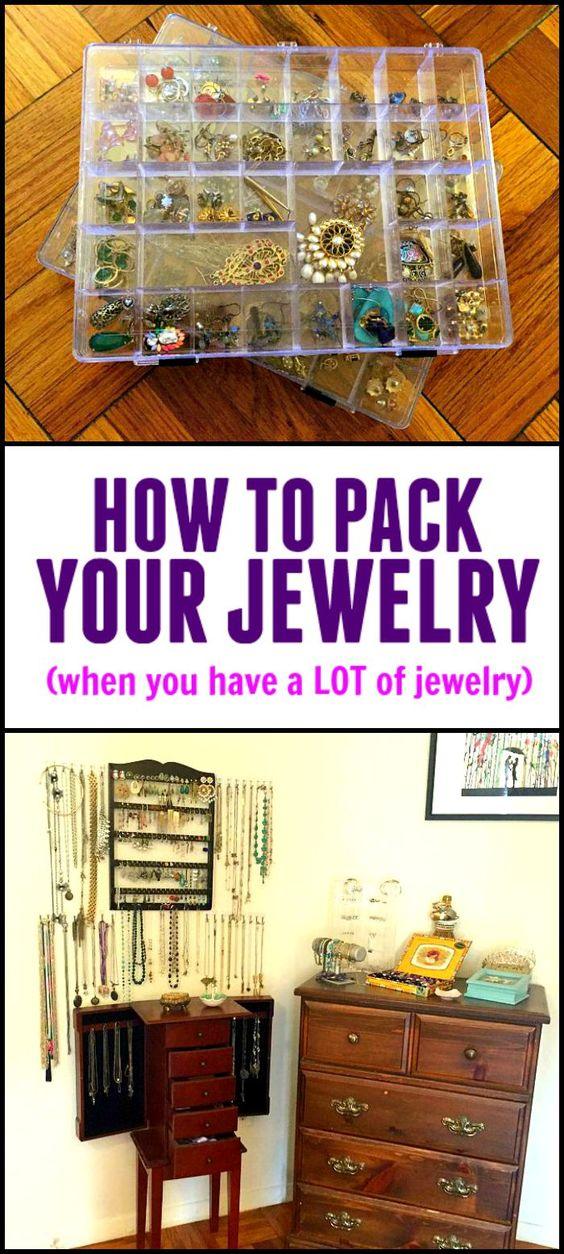 How to pack your jewelry for a move - when you have a whole lot of jewelry.