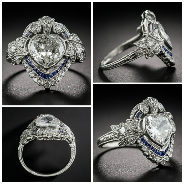 One of my most popular posts of 2016 - I heart this Edwardian sapphire and diamond ring.