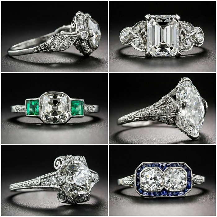 One of my most popular posts of 2016 - Let's look at antique engagement rings