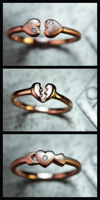 Rose gold and diamond stacking rings from ChincharMaloney's Charm Alone collection.